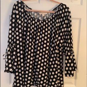 Michael Kors Black and White Ladies Shirt